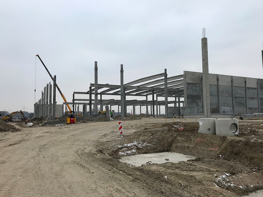 Procurement and project management for the new construction of further construction projects Logistics property in Bielefeld
