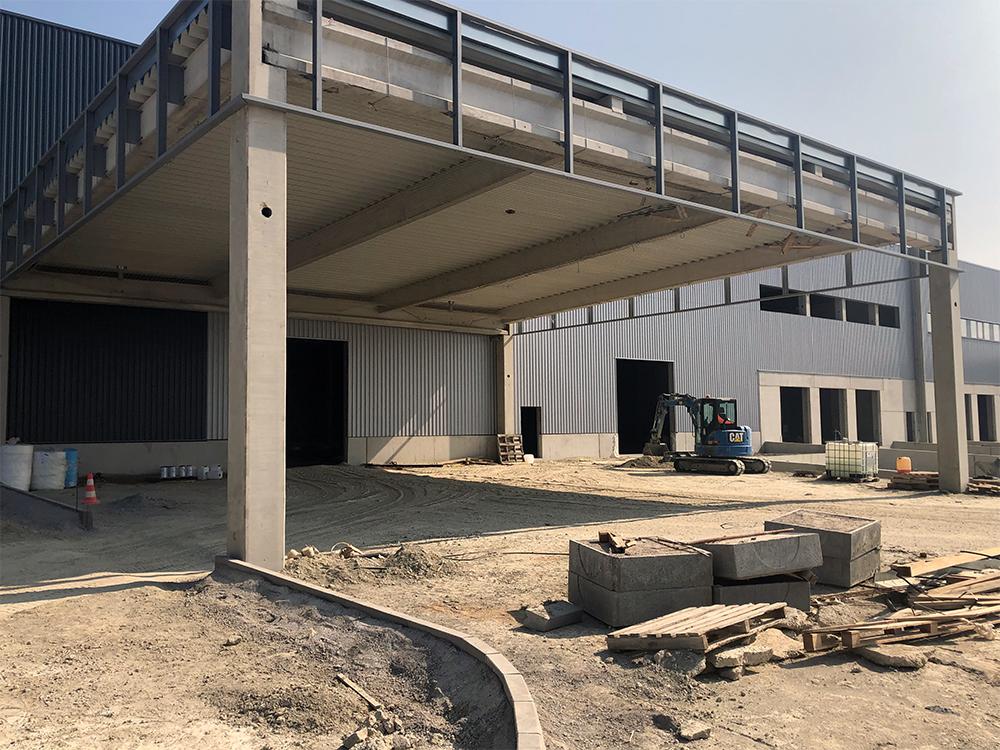Kosten- en planningscontrole voor de nieuwbouw van een logistiek vastgoed Productie-eigendom in Hambach (F)