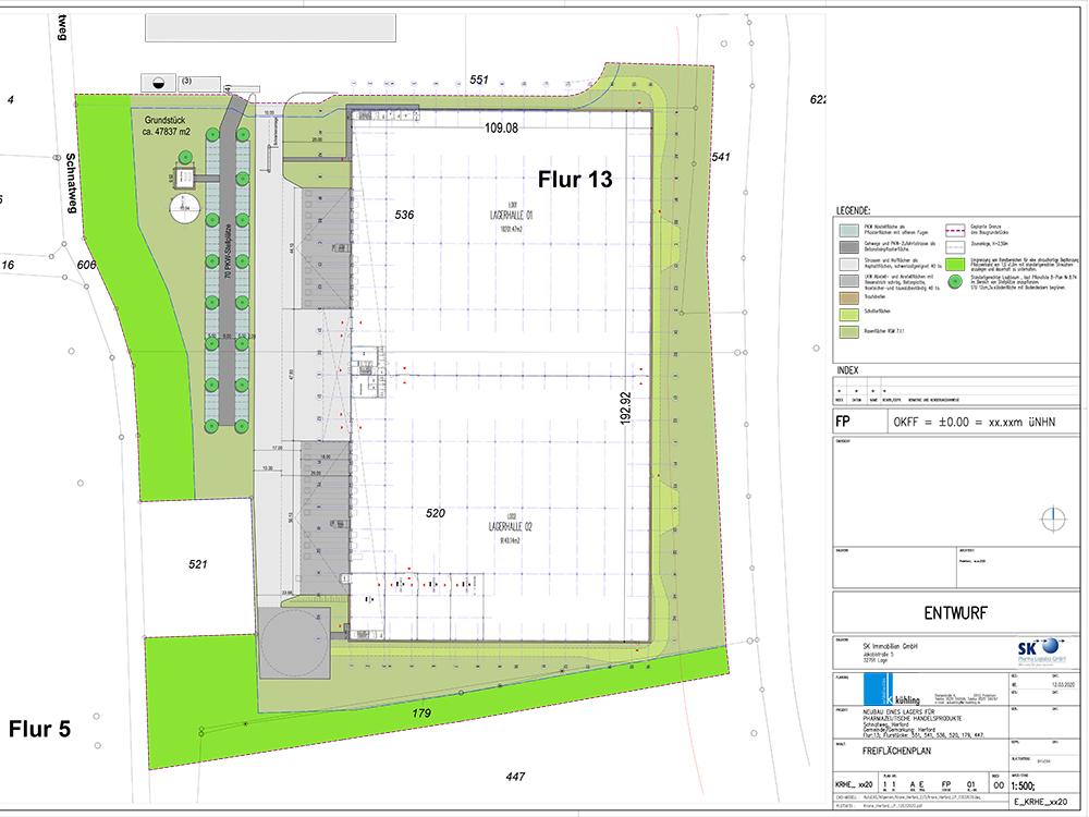 Procurement en projectmanagement nieuw farmaceutisch magazijn Herford